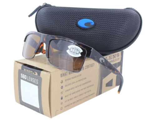 NEW Costa Del Mar South Sea Retro Tort Gunmetal SSE66-OCGLP 580G Sunglasses