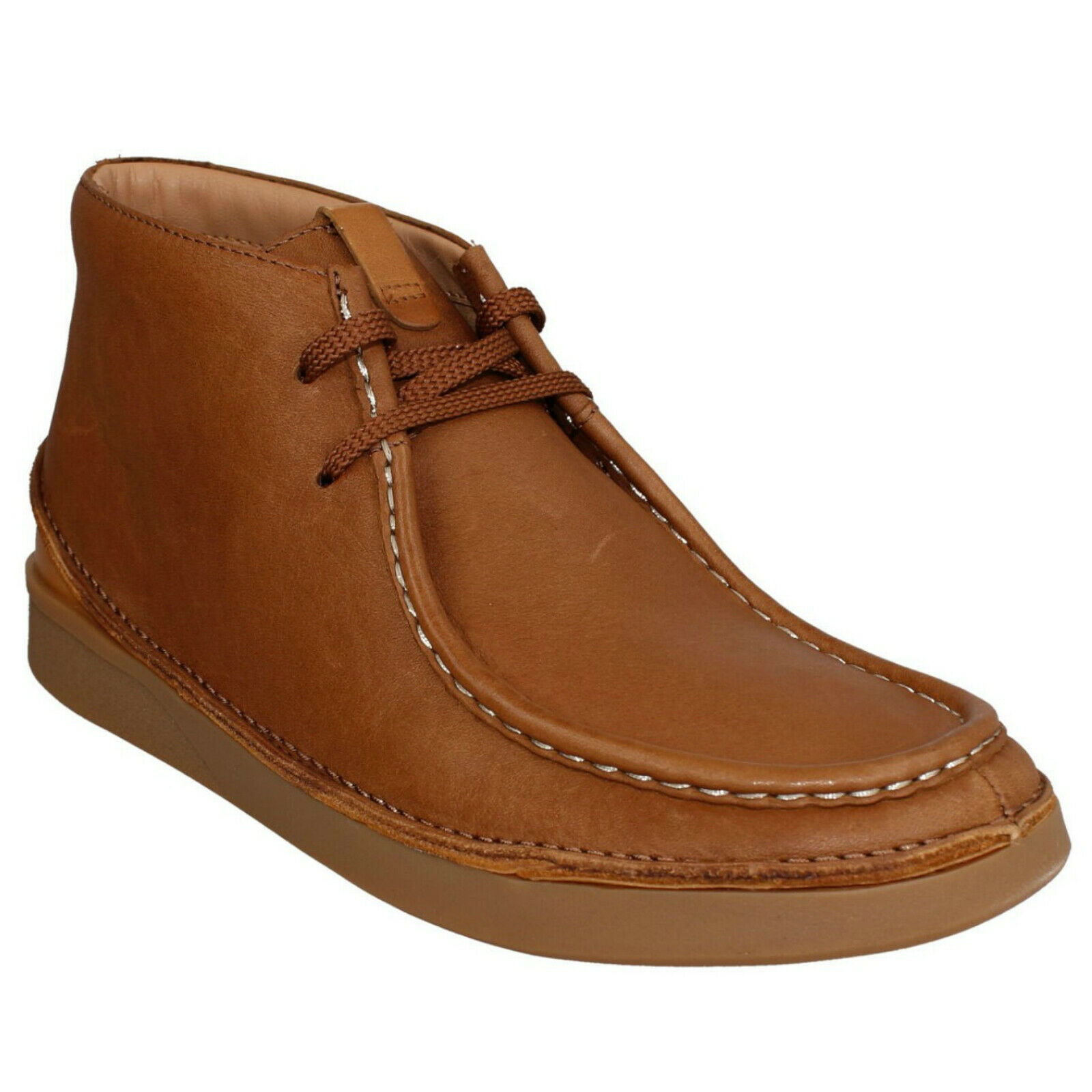 SALE MENS CLARKS OAKLAND MID LACE UP SMART WORK CASUAL CHUKKA ANKLE BOOTS SIZE
