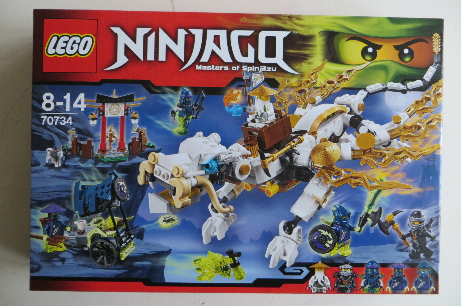 Nuovo Sealed Lego Ninjago 70734 Master Wu Dragon