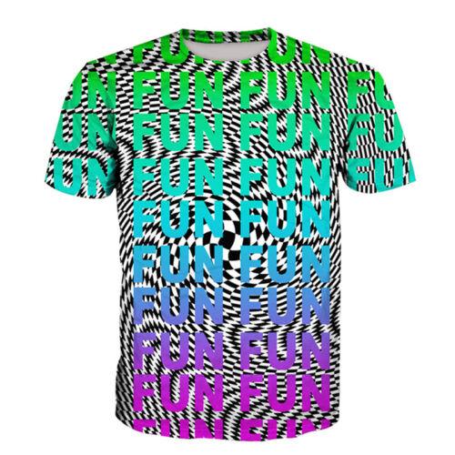 New Women Men Casual 3D T-Shirt Hypnotic Fun Letter Print Short Sleeve Tops Tee