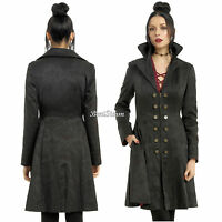 Disney Abc Once Upon A Time Hook Lined Black Fit Flare Princess Coat Hot Topic