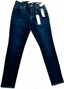 New-Vintage-America-Dark-Blue-High-Rise-Skinny-All-day-Flex-Jeans-Size-10R-30