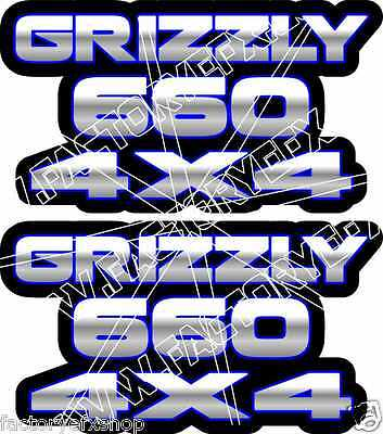 Grizzly 660 4x4 Camo Gas Tank Graphics Decal Sticker Atv Quad plastic car window