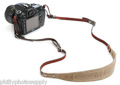 ONA Lima Handcrafted Waxed Canvas and Leather Camera Straps (Smoke)