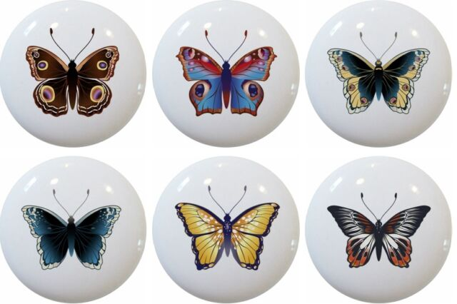 Set Of 10 Bugs And Butterfly Cabinet Drawer Knob For Sale Online