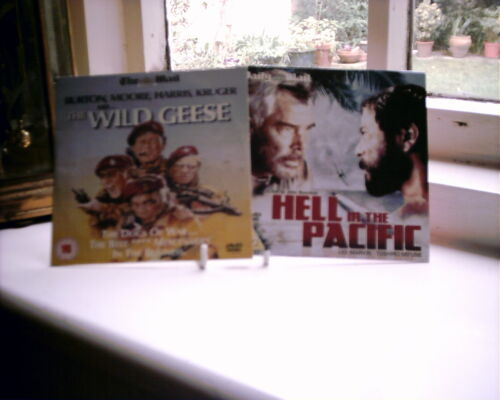 1 of 1 - THE WILD GEESE & HELL IN THE PACIFIC (2 PROMO. DVD'S) RICHARD BURTON, ROGER MOOR