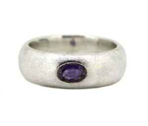 schoener-Ring-925er-Silber-Amethyst-mattiert-gebuerstet