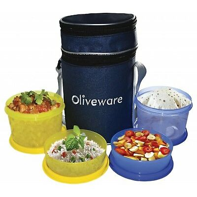 Oliveware Lunch Box Lb36 With Free Spinner