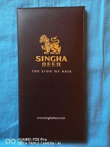 Original-Thailand-Singha-Bier-Kunstledermappe-aus-Bangkok-kein-Pattaya-Copy