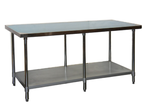 NEW 24 x 96 Stainless Steel Work Table NSF Heavy Duty #7814 Restaurant Prep Food