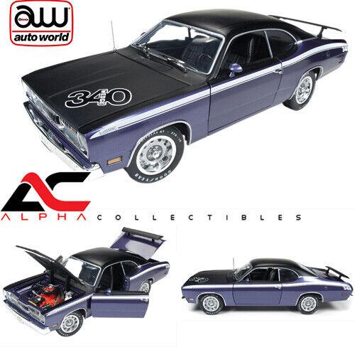 AUTOWelt AMM1052 1 18 1971 PLYMOUTH DUSTER CUDA 340 lila