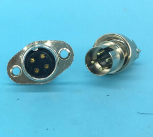 2 set GX16 5 Pin Aviation Plug /& socket Connector M16 Reverse Panel Mount Flange