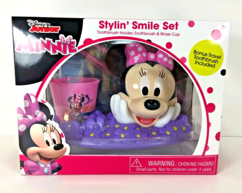 Disney MINNIE MOUSE Stylin/' Smile TOOTHBRUSH SET Christmas Candy Toothpaste Tray