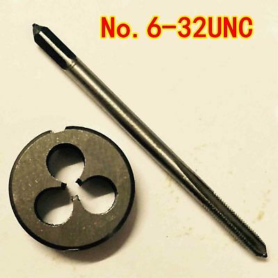 1pc HSS Machine 12-24 UNC Plug Tap and 1pc 12-24 UNC Die Threading Tool