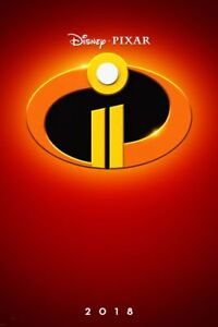 Incredibles 2 Original Ds Movie Poster 27x40 Ds 2018 Advance