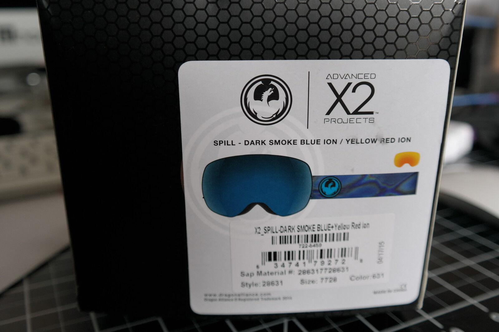 BRAND NEW 2016 Dragon X2 SPILL NO Lens Snowboard Ski Goggle