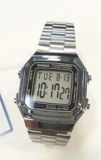 91ba26d641b Casio Metal Digital Chronograph Watch Alarm Silvertone Band 3234 ...