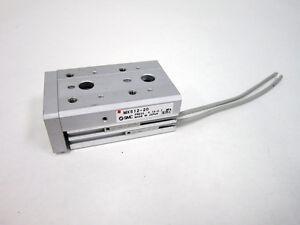 SMC MXS12-20 MXS CYLINDER SLIDE TABLE DUAL ROD 12-20 W/ 2x D-M9P SENSORS CUT