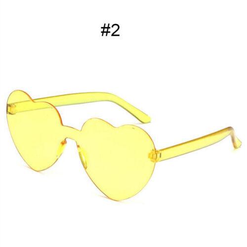 Women/'s Love Sunglasses Heart Shape Frame Trendy Candy Colors Girl Eye Glasses