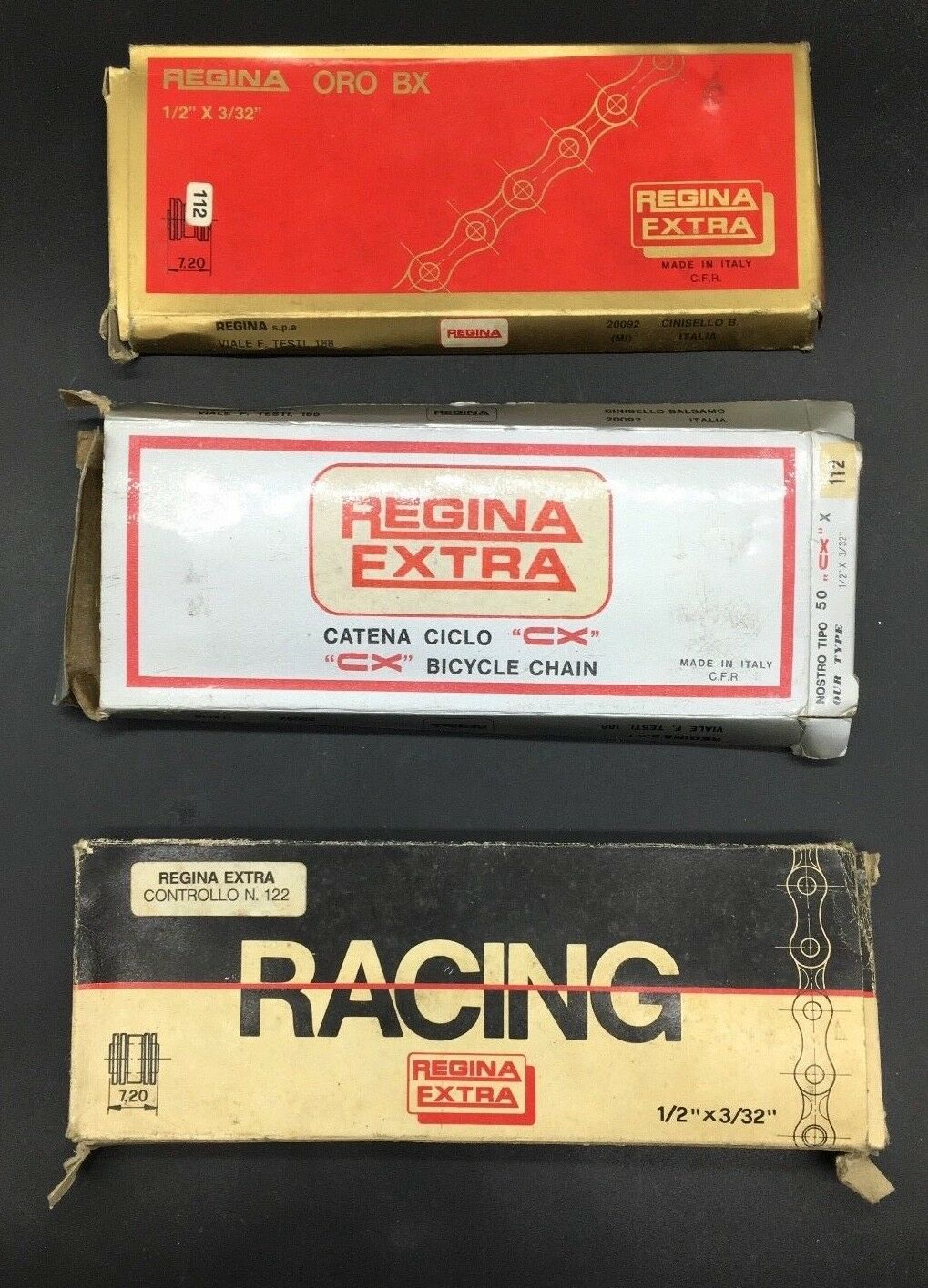 VINTAGE REGINA EXTRA CHAIN gold BX - RACING - CX  1 2 x3 32  NIB CATENA  no hesitation!buy now!
