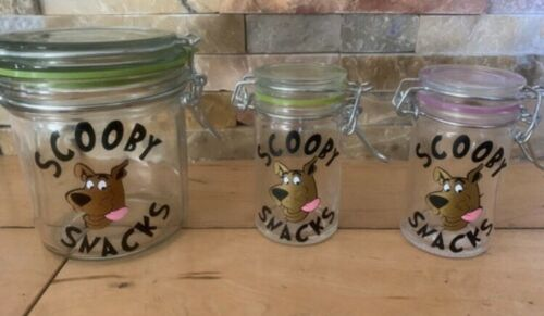 Herb  Jar Glass Storage Container Air Tight Scooby Snacks scooby Doo