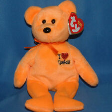 8.5 Inch Exclusive MWMT Ty Beanie Baby ~ I LOVE FLORIDA the Bear