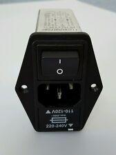 new SCHAFFNER FN393-2 5-05-11 IEC AC POWER ENTRY FILTER MODULE w/ SWITCH 2.5A