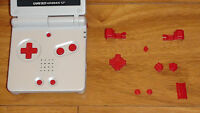 Game Boy Advance Sp Replacement Set Of Red Buttons Nintendo Gba Ships Fast