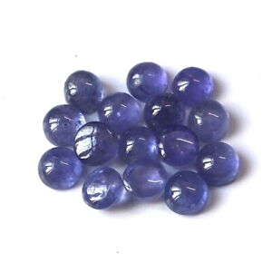 20 Pieces 5X5 MM Round Cut Natural African Purple Amethyst Cabochon Gemstone Lot