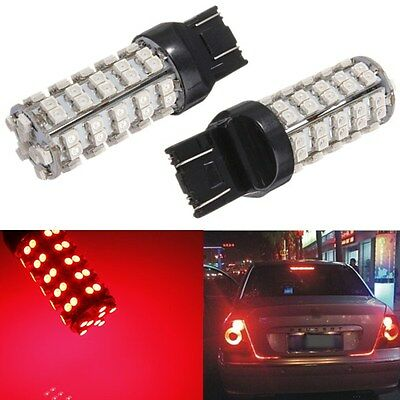 2x T20 7440 7443 68 LED 3528-SMD Red Brake Tail Turn Sinal Stop Light Lamp Bulb