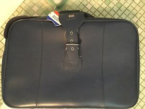 d2310d595 Image is loading American-Tourister-Luggage-Set-Blue-Vintage-Soft-Side-