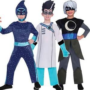 Childs-PJ-Masks-Costume-Fancy-Dress-Superhero-Villains-Book-Week-Boys-Girls-Kids