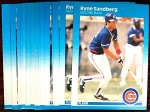 1987-Fleer-RYNE-SANDBERG-20-CARD-LOT-HOF-CHICAGO-CUBS-STAR-2B