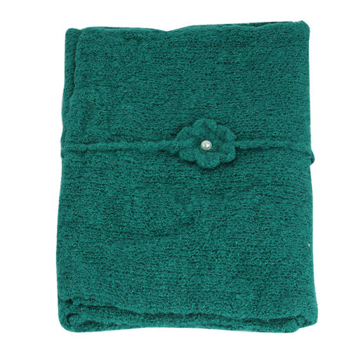 Newborn Girls Stretch Knit Baby Wrap Photography Photo Props Flower Headband