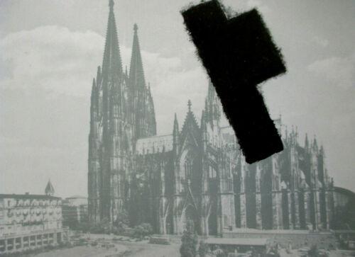 JOSEPH BEUYS />Halbes Filzkreuz über Köln/< Original Grafik 1975 mit Rahmen