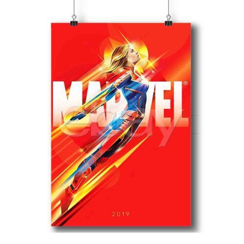 Captain Marvel Custom Art Poster Print Wall Decor