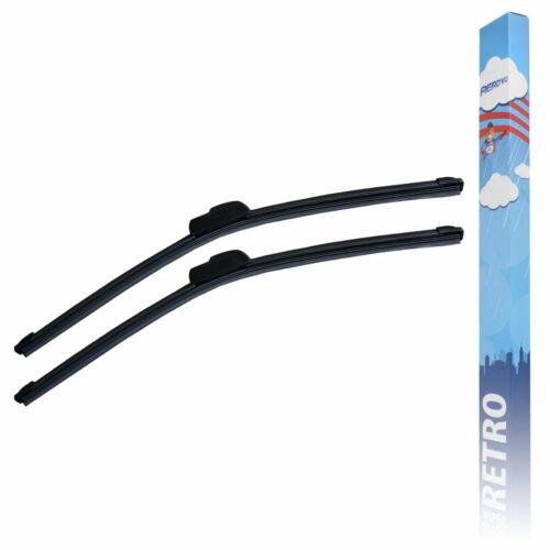 "26/""//26/"" Aero VU Flat Front Windscreen Wiper Blades Upgrade Set"