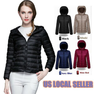 5204c29cb Ultra Light Packable Women's Hooded Winter Warm Down Parka Jacket ...