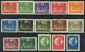 SWEDEN-1924-UPU-Congress-set-MNH-LHM
