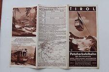23930 Reise Prospekt Tirol Patscherkofelbahn Igls bei Innsbruck um 1930