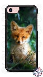 Cute-Red-Fox-Wild-Animal-in-Woods-Phone-Case-Cover-for-iPhone-Samsung-LG-HTC-etc