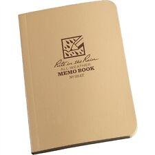 """Rite in the Rain Tactical Desert Tan Field Flex Memo Book No 954T 3.5"""" x 5"""""""