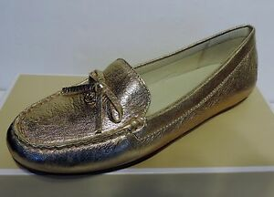 5a906c4fb57 New Michael Kors Everett Moc Flats tumbled leather small bow leather ...