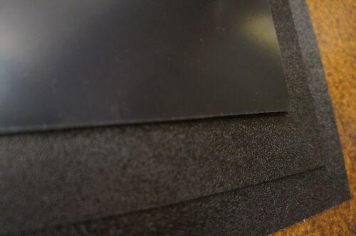 """0.06/"""" Vaccum Forming//Audio//Interior 2 Large Black ABS Plastic Sheet 24x24x1//16"""