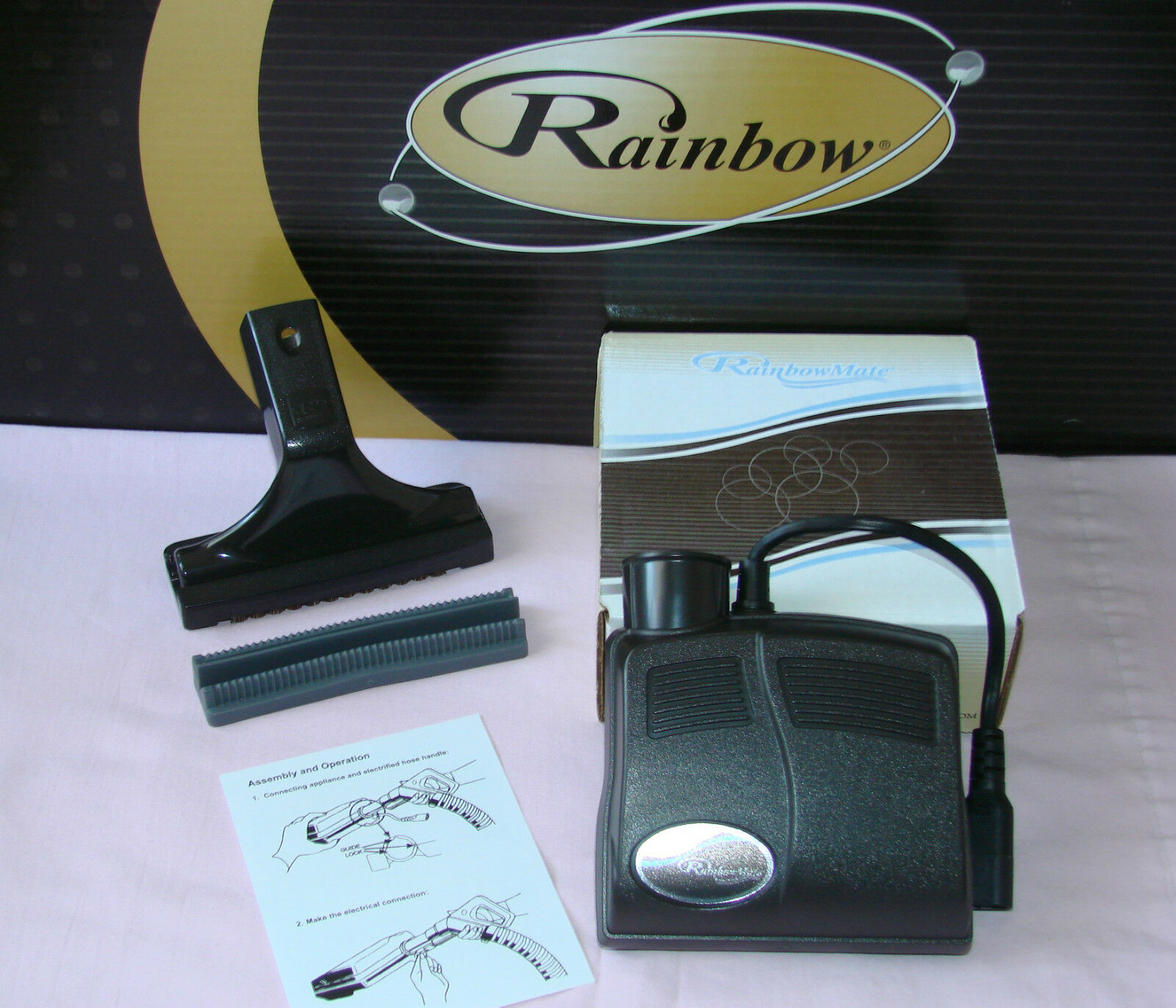 RAINBOW VACUUM RAINBOWMATE + UPHOLSTERY TOOL + SQUEEGEE  MID SIZE POWER NOZZLE
