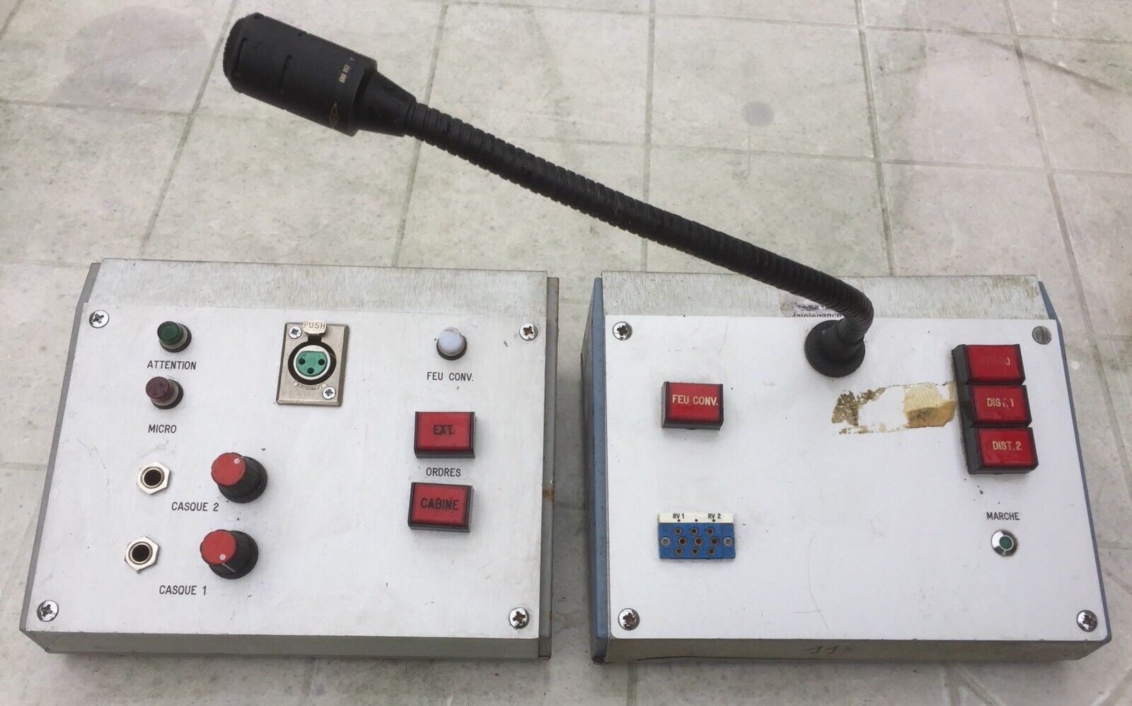 2 Boîtiers Intercom Radio Vintage Avec Micro