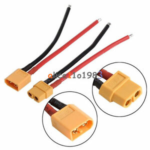 2pcs New XT60 Battery Connector Female Plug with Silicon 14 AWG Wire