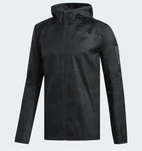 Adidas-Men-039-s-Running-Jacket-Response-Wind-Jacket-Carbon-3M-CY5738-Size-M-L-XL
