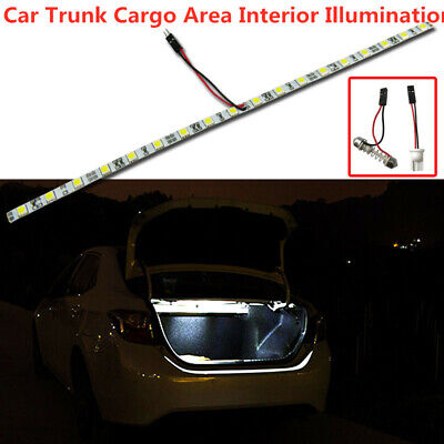 White COB 12V SMD LED Strip Light For Car Trunk Cargo Area Interior Illumination