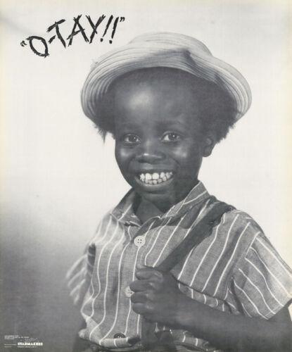 LITTLE RASCALS O/'TAY POSTER: MOVIE//TV : BUCKWHEAT FREE SHIP  #2311 RC26 K